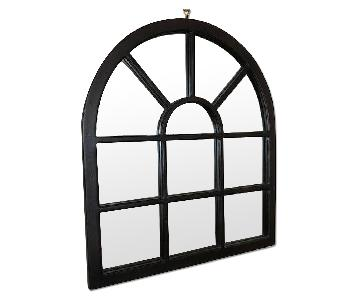 Pottery Barn Windowpane Wood Wall Mirror