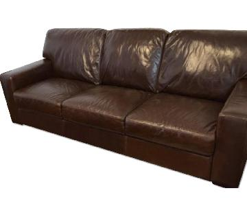 Raymour & Flanigan Ketterly Leather Sofa