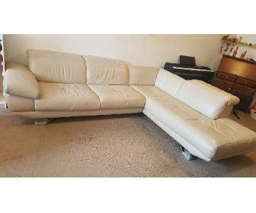 Natuzzi 2-Piece Leather Sectional Sofa