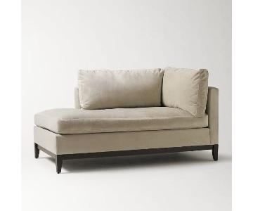 West Elm Right Chaise Lounge in Light Beige