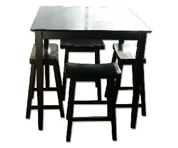 Jennifer Convertibles Dining Table w/ 4 Bar Stools