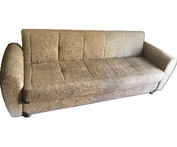 Meyan Fabric Couch w/ Storage