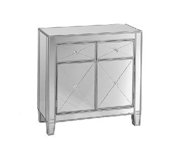 Southern Enterprises Mirage Mirrored Cabinet in Silver