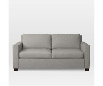 West Elm Henry Sofa in Platinum Twill