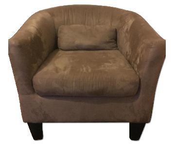Jennifer Convertibles Petit Brown Armchair