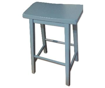 Light Blue Saddle Stool