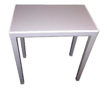 Grey Lacquer-Style Side Table