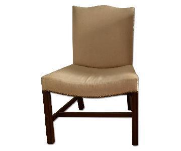 Camelback Linen Dining Chair