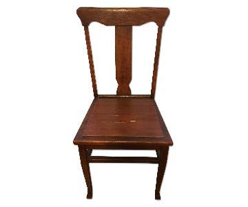 Vintage Dark Oak Side Chair