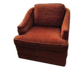 Mid Century Swivel Club Chair