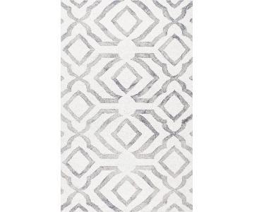 nuLOOM Wool Grey & White Area Rug