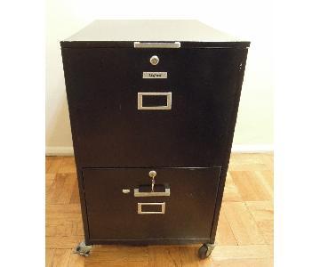 Oxford Metal 2-Drawer File Cabinet w/ Lock & Keys