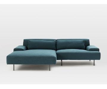 West Elm Beckham 2-Piece Chaise Sectional Sofa