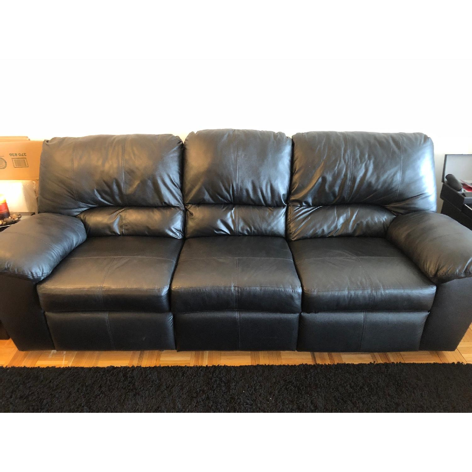 Ashley Sydney Black Reclining Sofa ...