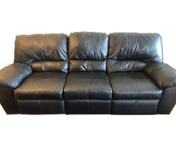 Ashley Sydney Black Reclining Sofa
