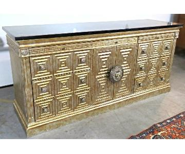 Neoclassical Wood Credenza/Console Table