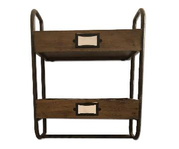 West Elm Apothecary Style Bathroom Shelving