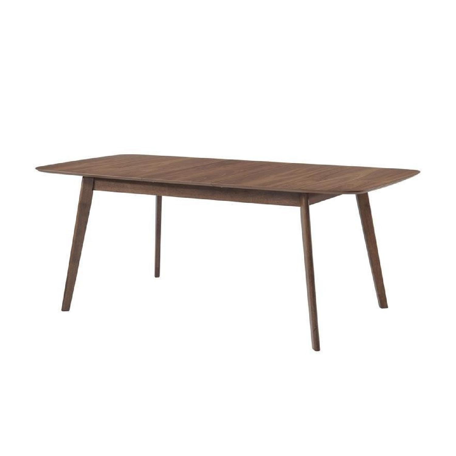 Natural Walnut Dining Table w/ Extension