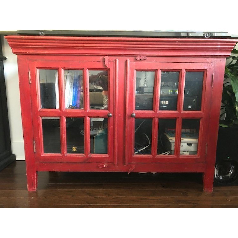 ... Crate U0026 Barrel Rojo Red Media Cabinet 1 ...