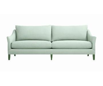 Crate & Barrel Keely 2 Seat Slipcovered Sofa in Spruce