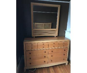 Bassett Wood Dresser w/ Mirror