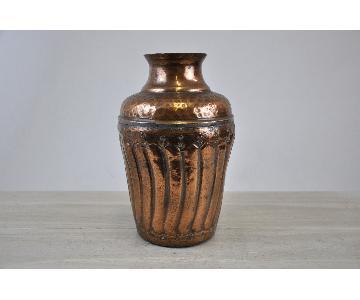 Hand Hammered Vintage Copper Vase