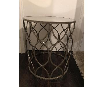 Glass & Brass Side Table