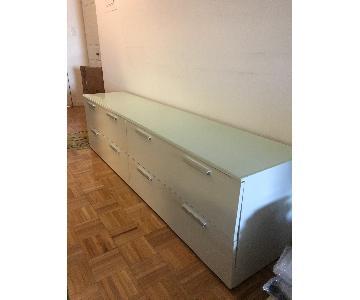 BoConcept Glasstop White Dresser