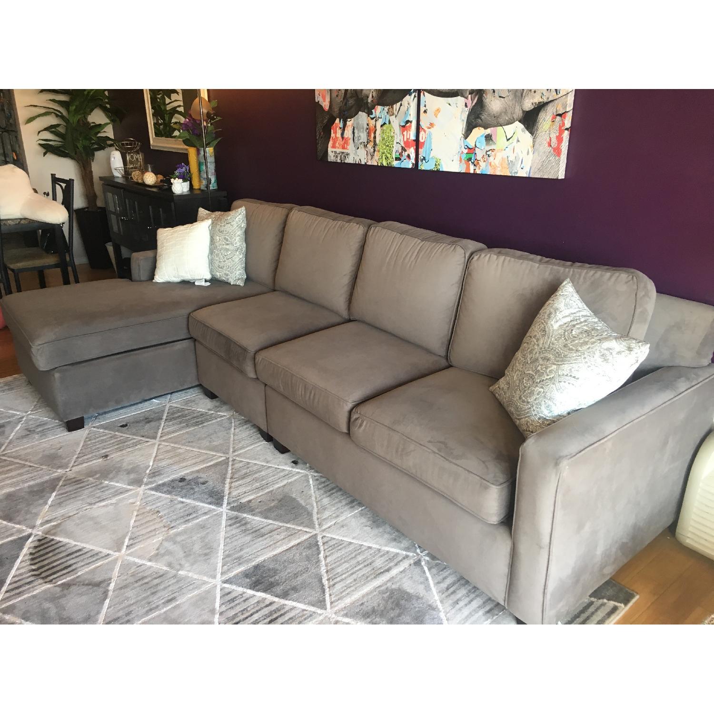 La Z Boy Custom Chaise Sectional Sofa Aptdeco ~ Sofa With Chaise Sectional