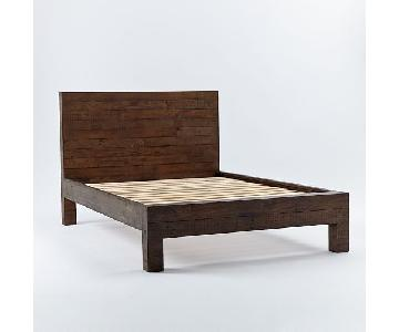 West Elm Emmerson Reclaimed Wood Bed in Chestnut