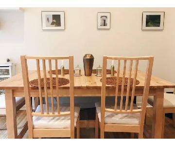 Ikea Norden Birchwood Expandable 5-Piece Dining Set