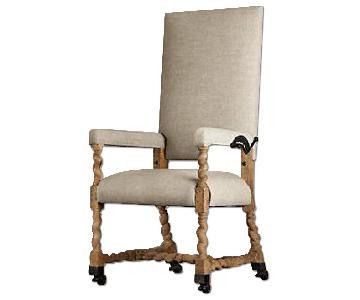 Restoration Hardware Bruges Adjustable Linen Desk Chair