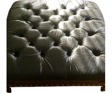 Mitchell Gold + Bob Williams Black Leather Ottoman