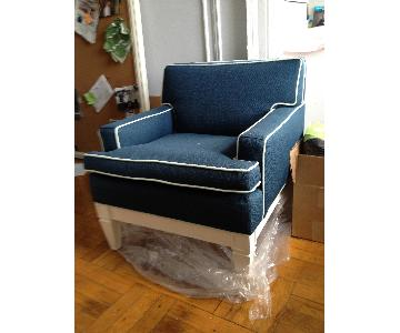 Jonathan Adler Navy Mini Club Chair