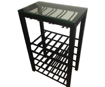 Crate & Barrel Glass Alto Wine Rack