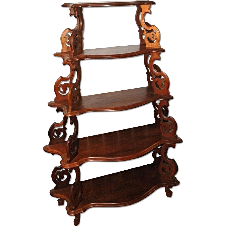 Victorian Walnut Bookcase/Etagere