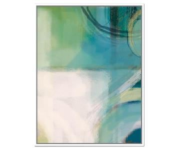 West Elm Minted Crevice Abstract Print