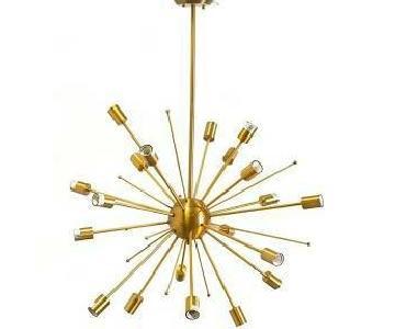 Mercana Edisonna II Gold Metal Ceiling Fixture
