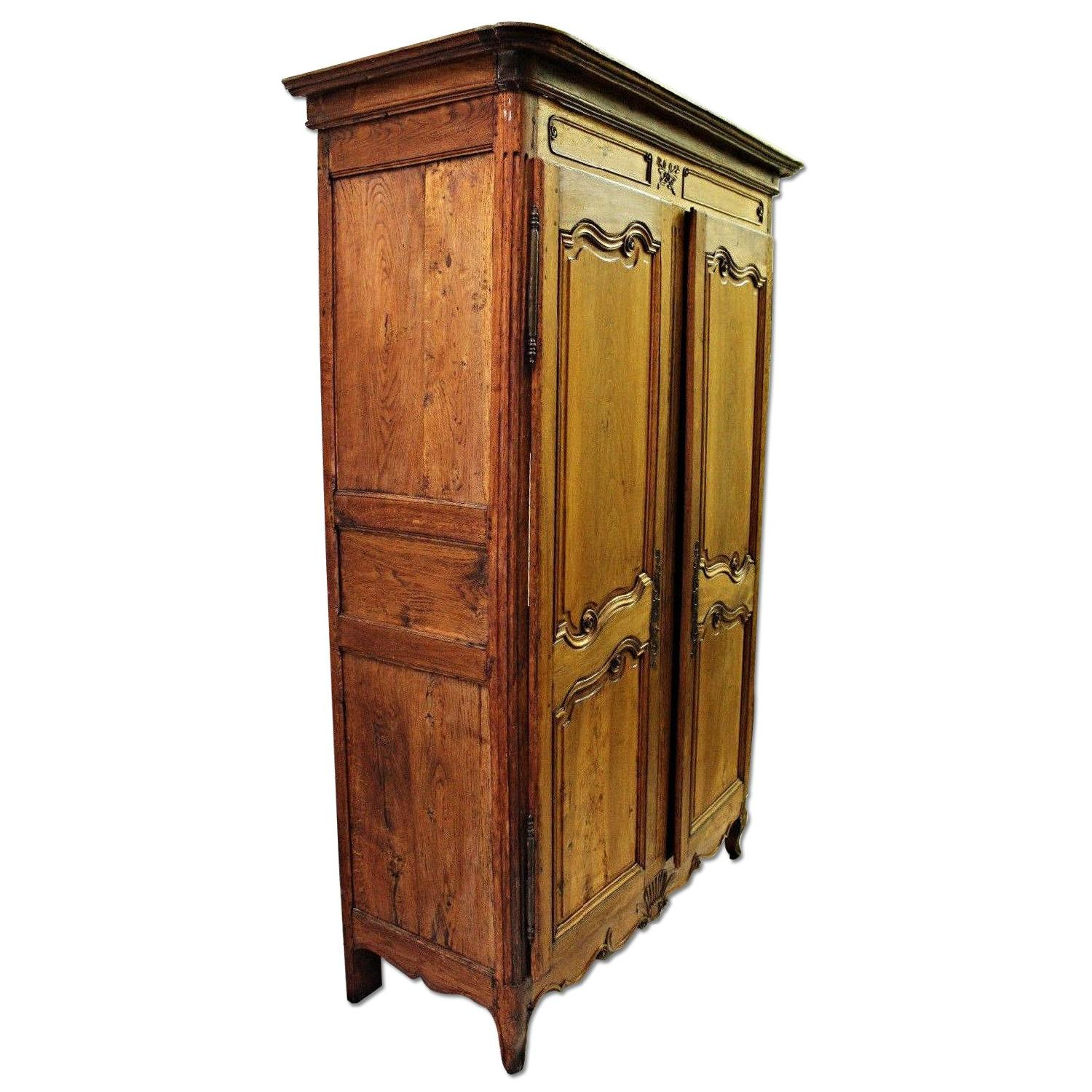 Vintage 18th C Large French Country Armoire/Wardrobe ...