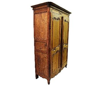 Vintage 18th C Large French Country Armoire/Wardrobe