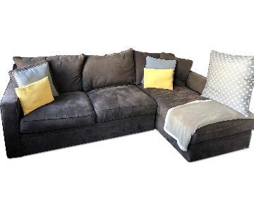 Room & Board Custom Microfiber Sectional Sleeper Sofa