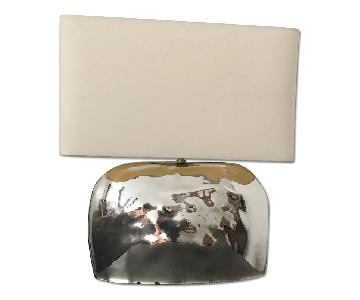 West Elm Pebble Hammered Mirror Table Lamp