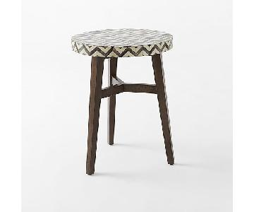 West Elm Chevron Bone Side Table