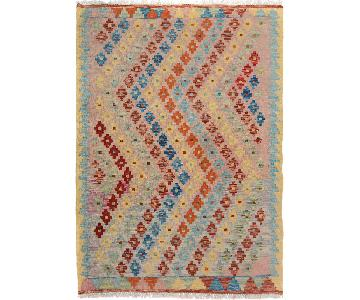 Arshs' Fine Rugs Kilim Arya Stephan Gold/Red Wool Rug