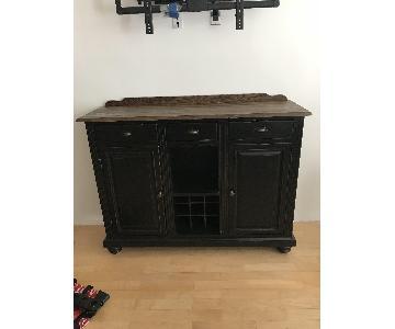 Madison Furniture Barn Wood Sideboard/Buffet w/ Wine Rack