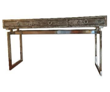 Lillian August Console in Distressed Grey