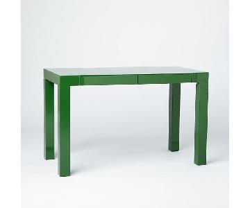 West Elm Parsons Desk in Green