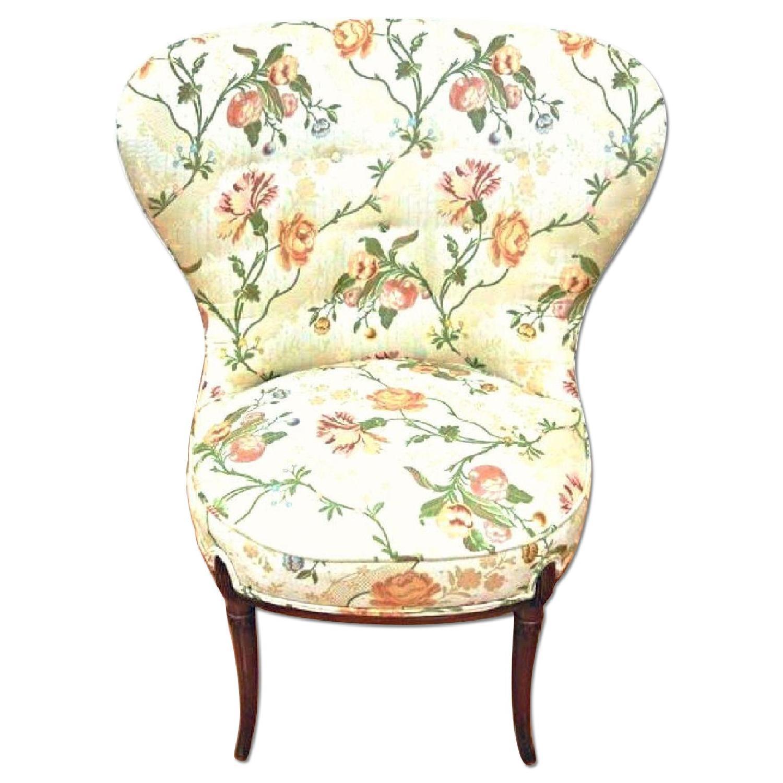 Fireside Fan Back Floral Side Chair