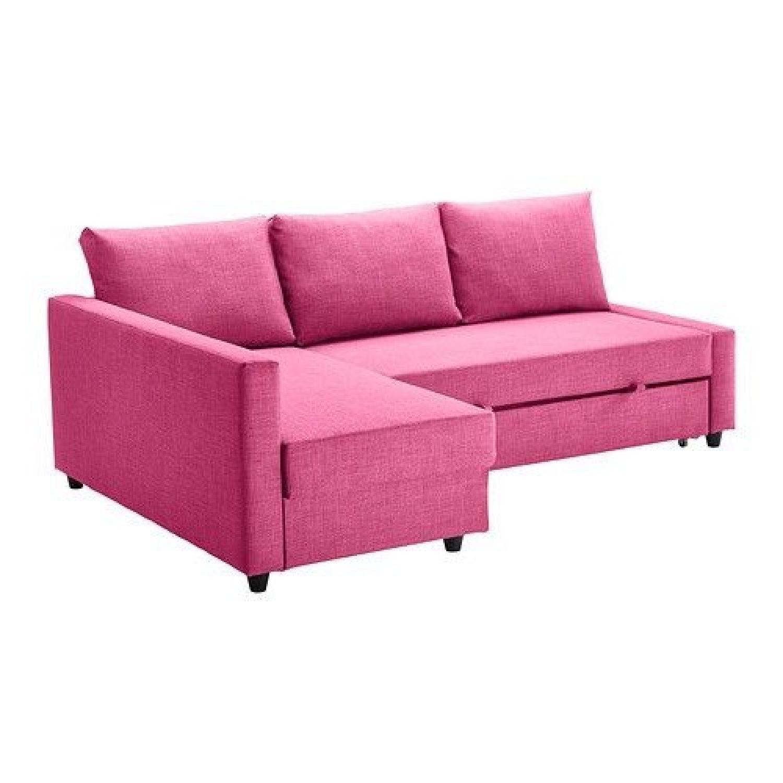 Ikea Friheten 3 Seat Sleeper Sectional Sofa W/ Storage ...