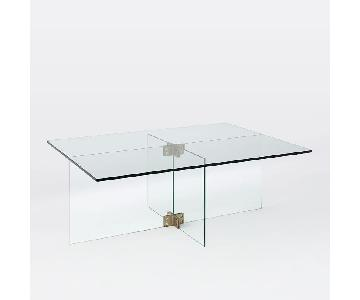 West Elm Cosima Glass Coffee Table
